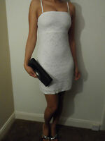 NEW WOMAN'S LADIES LITTLE WHITE PARTY LACE DRESS PERFECT PARTY EVENING WEAR