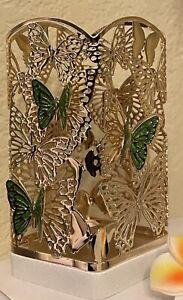 Bath Body Works NEW 2021 Gold Green Butterflies Foaming Soap Gel  Holder Sleeve