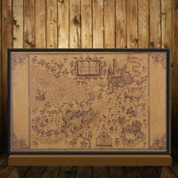 "20""X13"" Map of The Wizarding World of Harry Potter Poster Retro Wall Paper Decor"