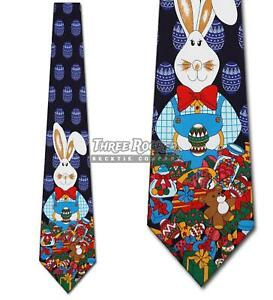 Easter Bunny Tie Mens Holiday Neck Ties NWT