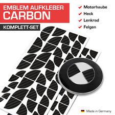 Carbon Schwarz Emblem Aufkleber Ecken für alle BMW Autos 45 Ecken