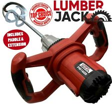 Lumberjack 1600w Paddle Mixer with Variable Speed for Cement Plaster Paint 230v