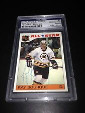 Ray Bourque Signed 1985-86 Topps All-Star Sticker Bruins PSA Slabbed #83426945