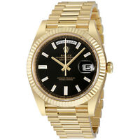 Rolex Oyster Perpetual 18K Yellow Gold Diamond Mens Automatic President Watch