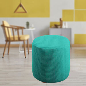 Ottoman Slipcover with Elastic Bottom Machine Washable for Home Office