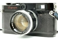 [Black Repaint / EXC+5] Canon P Rangefinder w/ 50mm f/1.4 LTM MF Lens From JAPAN
