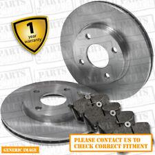 Brake Discs 257mm Vented Fiat Punto 1.4 GT Turbo Front Delphi Brake Pads