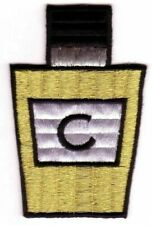 Metallic Gold Black Letter C Perfume Bottle Embroidery Patch