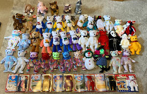 1999-2001 beanie babies TY lot x47 all tags/sealed Limited read description