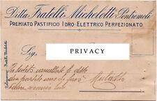 PONTREMOLI – PASTIFICIO FRATELLI MICHELOTTI – CARTOLINA PUBBLICITARIA LUNIGIANA