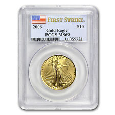 1/4 oz Gold American Eagle MS-69 PCGS (Random Year) - SKU #83500