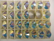 8 Swarovski rivoli stones,16mm crystal AB / foiled #1122