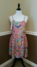 NWT Sunny Girl $45 Sun Dress S Pink Birds Butterflies Flower Modcloth Springtime