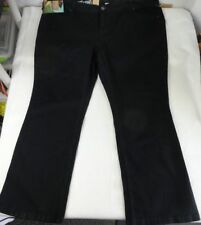 "NWT DKNY SOHO Jeans Woman's Size 28 Black Waist 46"" Stretch Denim Dungarees Pant"