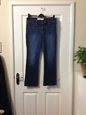 Abercrombie AND FITCH donna jeans taglia 6R Girovita 28 pollici, gamba 28 POLLICI