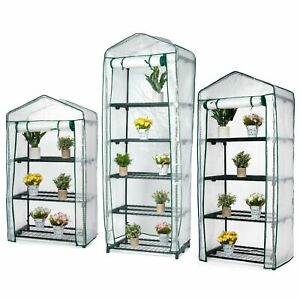 2 3 4 5 Tier Mini Outdoor Greenhouse Garden Plants Grow Green House PVC Cover