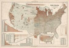 1883 Scribner's Map of the United States Illustrating Immigrant Population