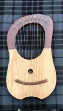 New Lyre Harp Sheesham Wood 10 Metal Strings Two Tone Lyra Harp Free Case +Key