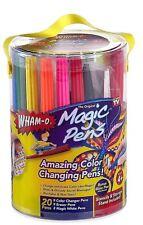 20PC MAGIC PENS AMAZING COLOUR CHANGING PENS SET STENCILS BLOW PEN GIFT SET PENS