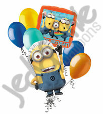 7 pc Despicable Me Minions Happy Birthday Balloon Bouquet Party Decoration