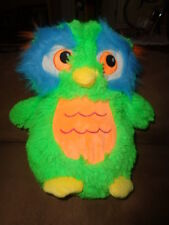 "Owl Green Colorful 10"" Fiesta Fuzzy Bright Neon Colors Orange Stuffed Plush Toy"