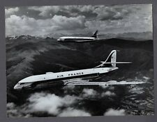 AIR FRANCE CARAVELLE'S LARGE ORIGINAL AIR FRANCE STAMPED PHOTO