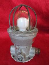 Original Vintage Antique Marine Aluminum Passage Lights 1 Pc Made In Italia