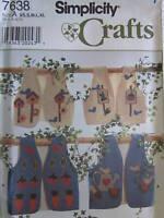 7638 UNCUT Vintage Simplicity SEWING Pattern CRAFT Vest w/Appliques XS-XL OOP FF