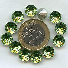 1028 SS40 P *** 6 STRASS SWAROVSKI FOND CONIQUE 8,55MM PERIDOT F