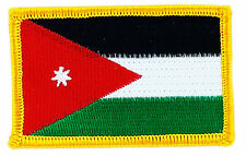 JORDAN Flag Embroidered Iron-On Patch Military Shouder Emblem Red Border