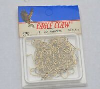 New Box of 100 Eagle Claw Aberdeen Gold Fish Hooks Size 6 575S