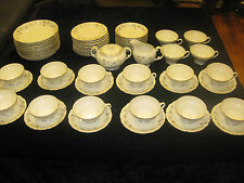 65PC.VINTAGE JAPAN FINE CHINA SET LOVELY MARIA 3829 PATTERN-VERY ELEGANT