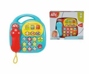 Simba ABC Telefon mit Sound ab 6 Monate Kindertelefon Babytelefon Spieltelefon