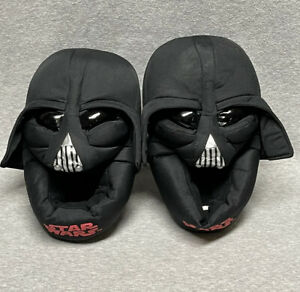 BOYS STAR WARS DARTH VADER 3D LOUNGE INDOOR HOUSE SLIPPERS SHOES XL 4-5