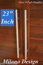"23"" Pull Push Long Modern Door Handle Entrance Entry Stainless Steel Glass"