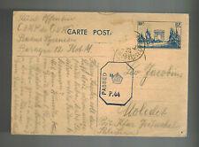 1940 France Concentration Internment Camp de Gurs Postcard Cover to Palestine