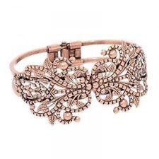 Idée cadeau : Bracelet manchette oriental femme , couleur bronze