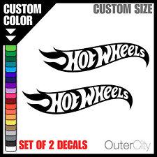 2x Hot Wheels Decal - 4x4 Jeep Car JDM Truck Drift Ford Car Bumper Sticker Label