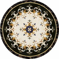 "24"" Marble Coffee Table Top Inlaid Arts pietra dura Decor gifts"