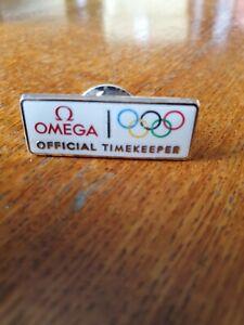 OMEGA OLYMPICS OFFICIAL TIMEKEEPER LAPEL BADGE