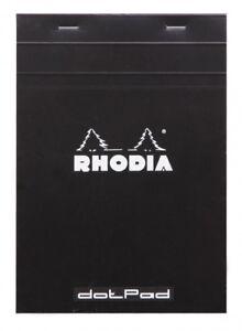 Rhodia Dot Pad - Black - Matrice Points 5mm - 6 x 8.25