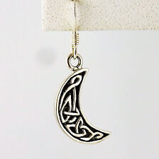 Moon with Celtic Knots Sterling silver Celtic Crescent