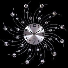 Wanduhr Moderne Küchen Wanduhr Küchenuhr Designer Quartz Uhr Bürouhr silber