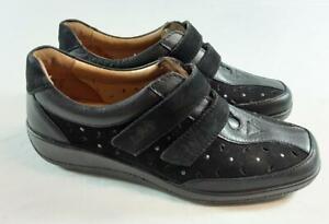 Hotter 'Maryland' Black Leather/Nubuck Shoes. Size UK 5, EU 38. Brand New In Box