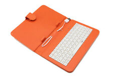 "7"" Orange PU Leather Stand Keyboard Cover Case Protective for 7 inch Tablet PC"