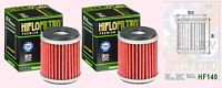 2x HF141 Oil Filter for Yamaha ATV   YZF   YFZ450   2004 to 2006
