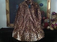 NWT LAUREN RALPH LAUREN WOMEN Leopard Sateen Sleep Shirt M