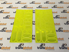 Hi-Vis Reflective Adhesive Stickers 36 Piece Attach to Bike, Bag & Clothes Etc