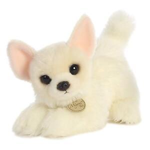 """MIYONI TOTS CHIHUAHUA PUP LONG COAT PLUSH TOY DOG 10""""  STUFFED ANIMAL BY AURORA"""