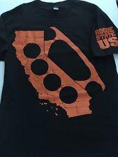 Rogue status  T Shirt Black  California Large Bras Knuckels Orange so cal